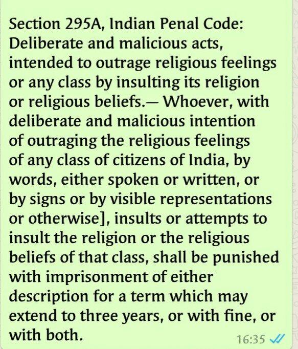 #cybercrime  cell should act against such person @myogiadityanath @rammadhavbjp @rashtrapatibhvn @PMOIndia @malviyamit @RRanjanBJP @dna @toi<br>http://pic.twitter.com/D6vb1v8RyL