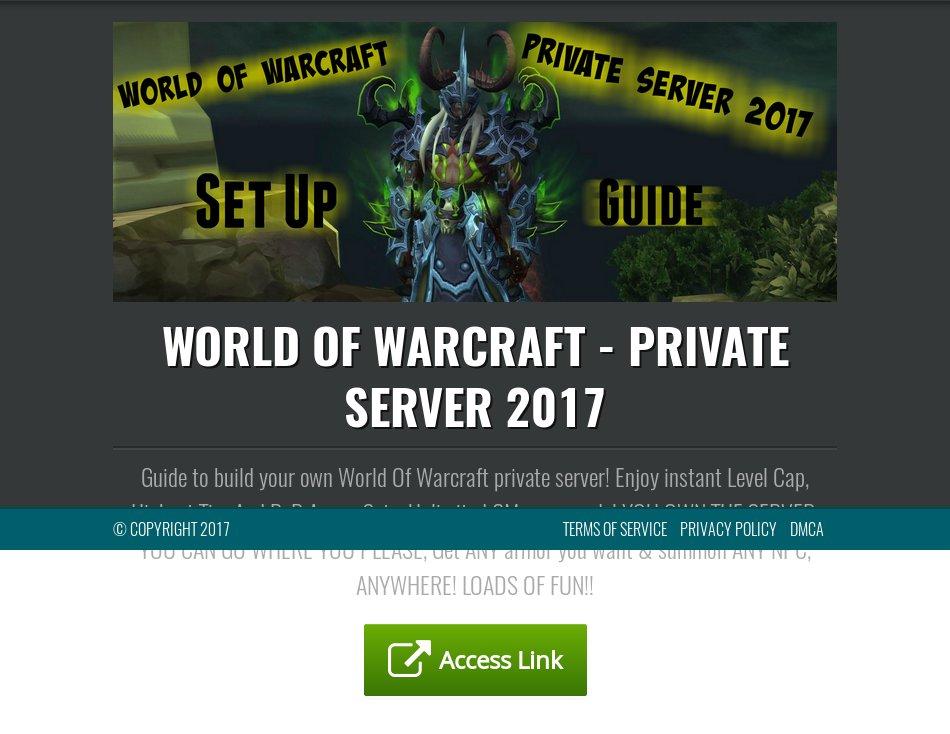 Хостинг игровых wow серверов продвижение веб сайтов в топ8