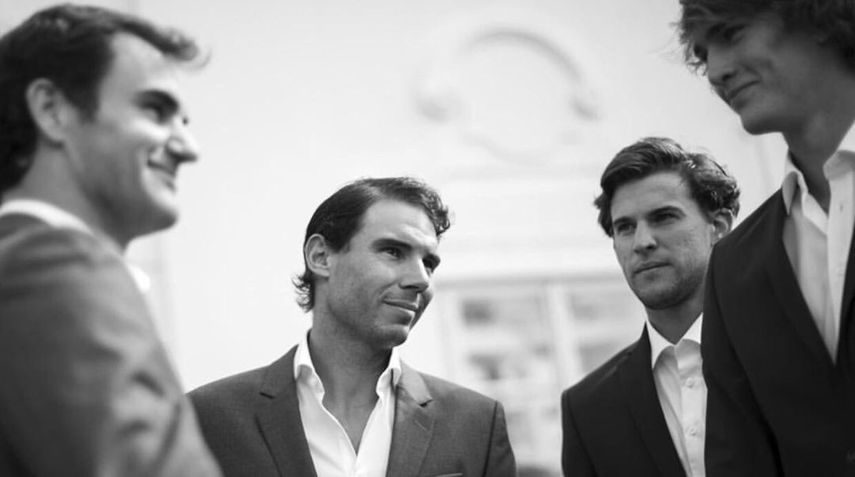 Please no one else to qualify for the #ATPFinals so I can just watch my four baes play  #fedal #thierev #federer #nadal #thiem #sascha<br>http://pic.twitter.com/3aOOCEZ2fY