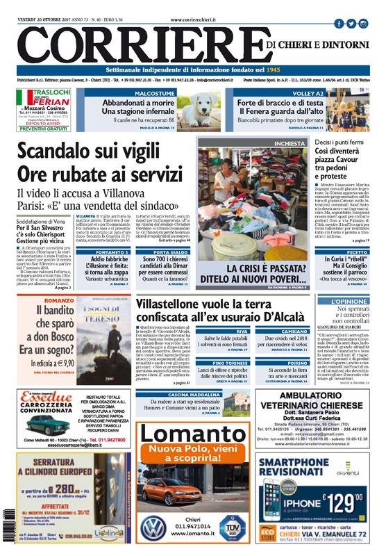 Buongiorno, #PrimaPagina del #CorriereCh...
