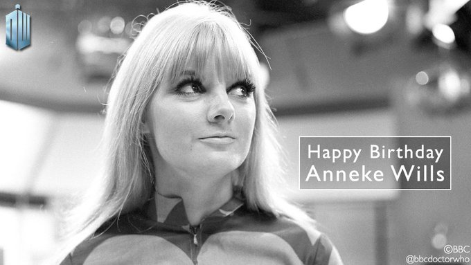 Happy birthday to Anneke Wills, who played First and Second Doctor companion Polly!