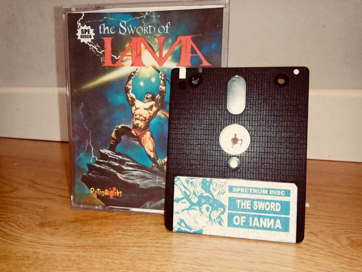 Awesome custom +3 Disk version of The Sword Of #Ianna for #ZXSpectrum <br>http://pic.twitter.com/cbXQycgvuz