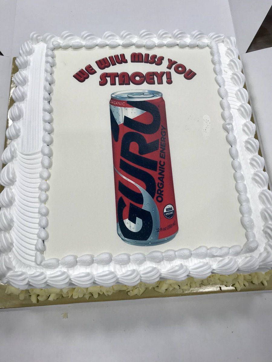 This is when you know your #team knows you so well!  A #farewell cake that commemorates my morning beverage ritual @guruenergy<br>http://pic.twitter.com/m1mRJ3TGds