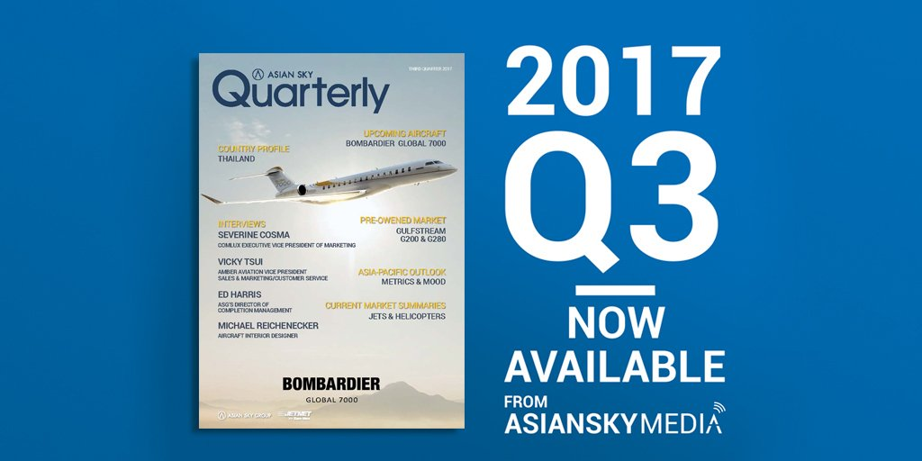 Asian Sky Quarterly shows #bizjet purchase intentions are up and the 2017Q3 market is stabilizing. Find out more:  http:// ow.ly/viNb30fVjm6  &nbsp;  <br>http://pic.twitter.com/iOiJJqEszQ
