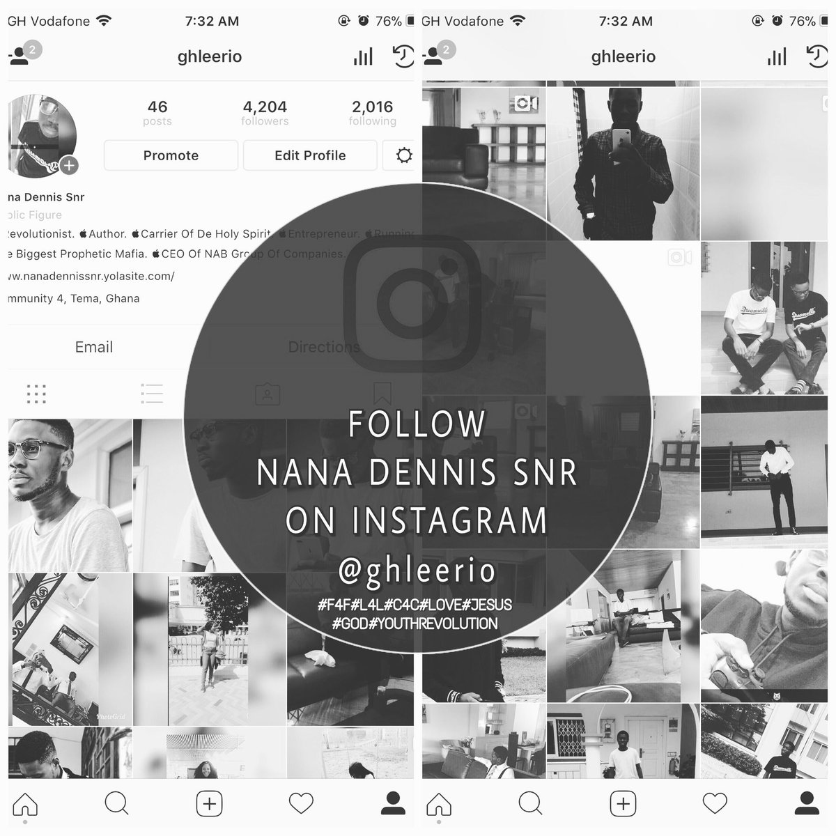 Get the opportunity to interact with Nana Dennis Snr on instagram. @ghleerio on instagram. Follow4Follow #Likes4Likes #F4F L4L <br>http://pic.twitter.com/akLAtXnPXo