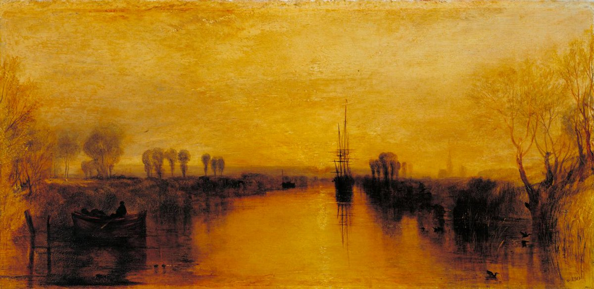 #TateWeather saw a light change in London this week. Did anyone see a sky as yellow as in Turner's Chichester Canal? https://t.co/Llc3Vt09k9