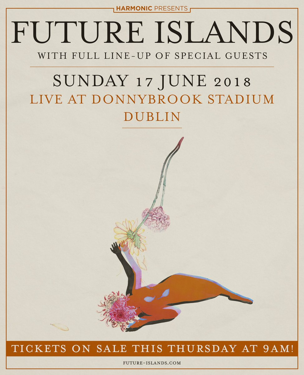 Future Islands Live at Donnybrook Stadium June 17 & full line up of special guests. Tickets on sale Thursday https://t.co/5IVyclOe5i
