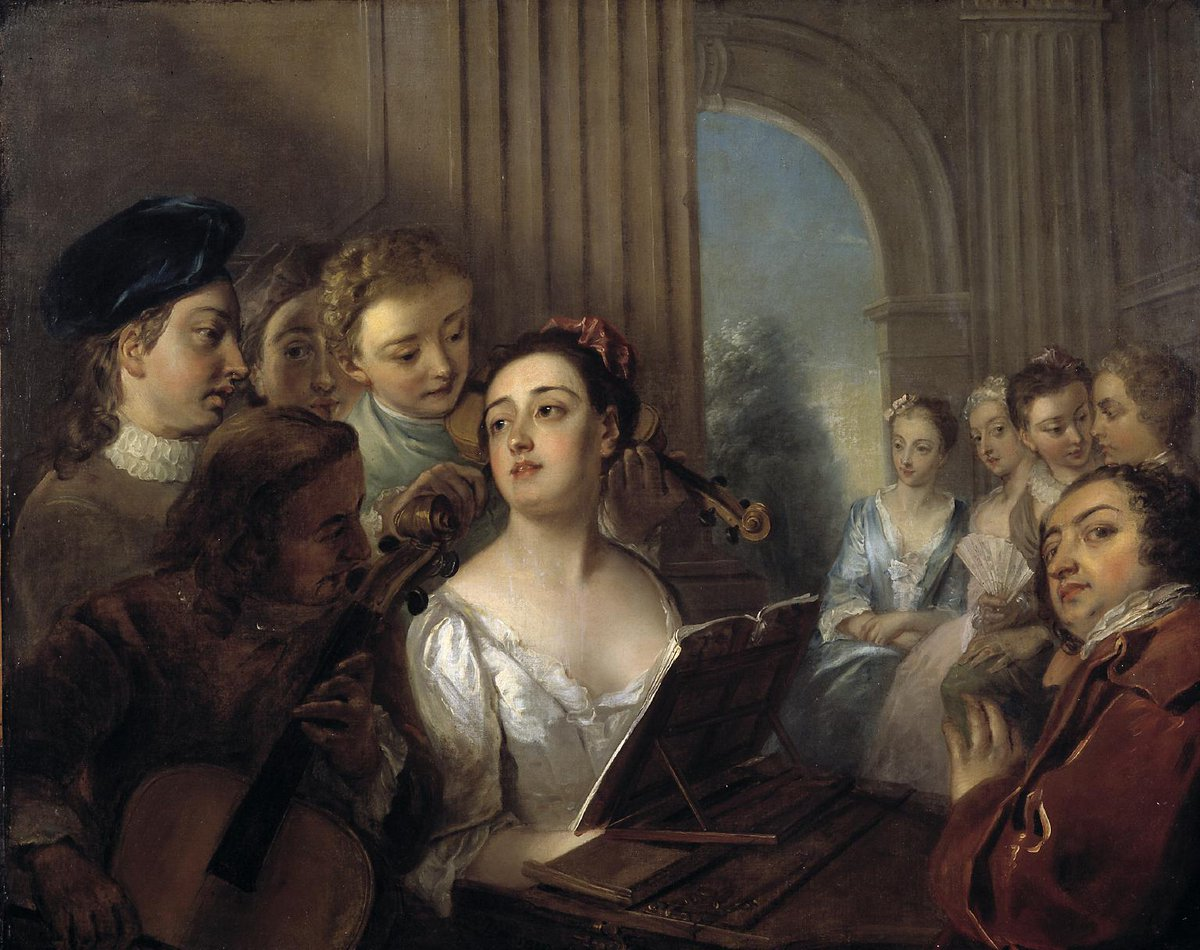 Philip #Mercier - a music party (c.1737–40)        @Tate  #fineart #peinture <br>http://pic.twitter.com/OTGtPl3fwp