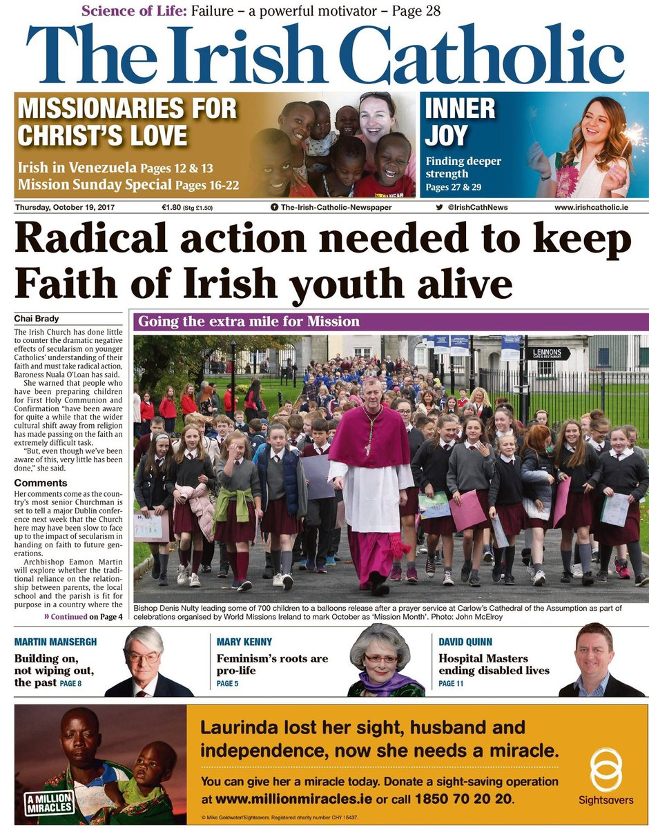 So happy to see @BishopDNulty on the front page of @IrishCathNews @stleoscarlow @meithealkandle #youth #faith #alive<br>http://pic.twitter.com/9gwG2k7M3w