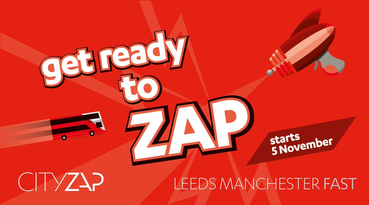Get ready to ZAP! #LEEDS. #MANCHESTER. FAST. Starts 5 November - try zapping for just £1 for our first week!  http:// lancashirebus.co.uk/news.jsp?newsI D=2131 &nbsp; … <br>http://pic.twitter.com/xgCXhFhpU7