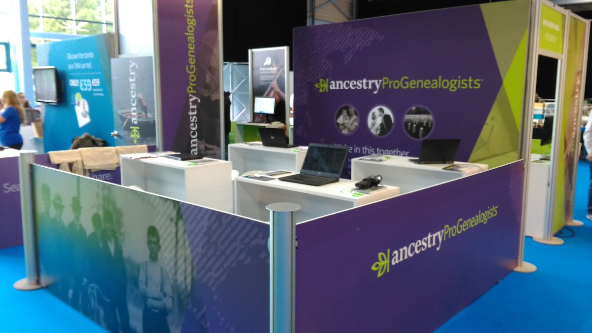 @ProGenealogists all set to tackle your #genealogy brick walls at @BTOPShow #btop @AncestryUK<br>http://pic.twitter.com/FIzRMgEuKf
