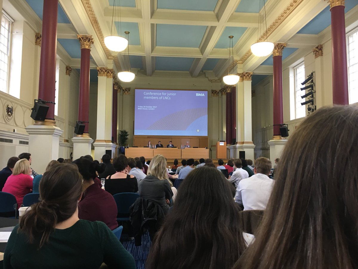 """Great turnout for the #juniorLNC conference. """"LNCs &amp; IROs are the key to making it all work"""" #recognition @BMA_JuniorDocs @AskJeevesWij<br>http://pic.twitter.com/OcV4a2zu61"""