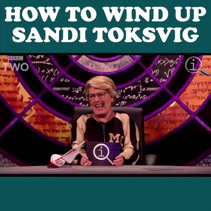 RT @BBCTwo: How to wind up @SandiToksvig in one simple step... #QI 😂⛵ @BillBailey @ClaudiaWinkle https://t.co/DHdtu8YcOW