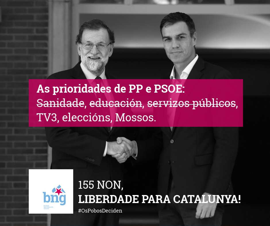 Priodidades de PP e PSOE: Sanidade, educación, servizos públicos; NON!...