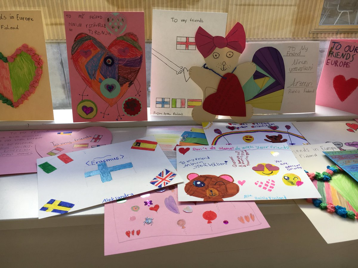 Today we got friendshipcards from Our friends in Finland @KuloinenSchool #GettingThereOnYourOwn #Erasmusplus <br>http://pic.twitter.com/BB4Op6OaOI