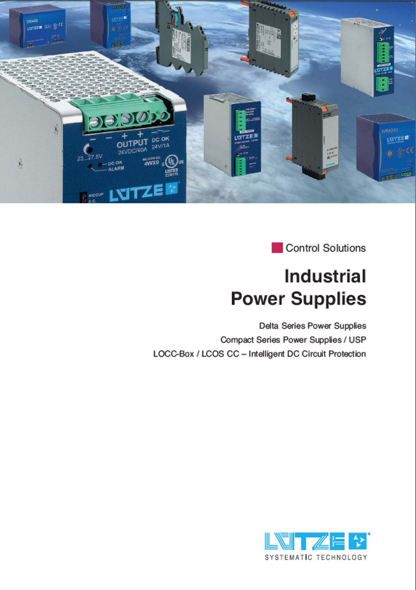 Jetzt downloaden! Der neue Netzgeräte- und Stromüberwachungskatalog von LÜTZE...