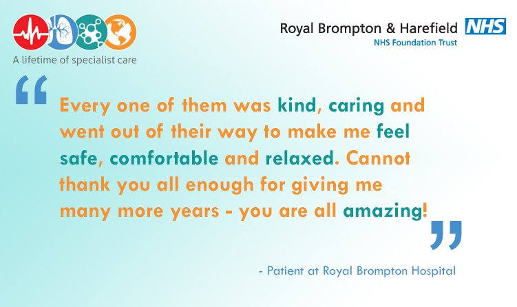Quote of the week: A patient&#39;s #thanks for the #lifechanging work carried out at #RoyalBrompton &amp; for the constant care from all staff #QOTW<br>http://pic.twitter.com/4YWYvVpYsH