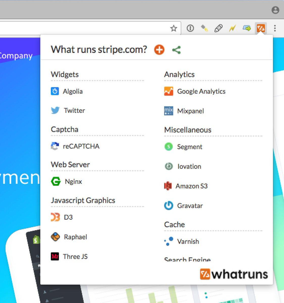 Love this Chrome extension. Discover what runs a website -  https:// buff.ly/2gz7Rnv  &nbsp;   #webdev #cms #frameworks #css<br>http://pic.twitter.com/C7NZBbKtwk