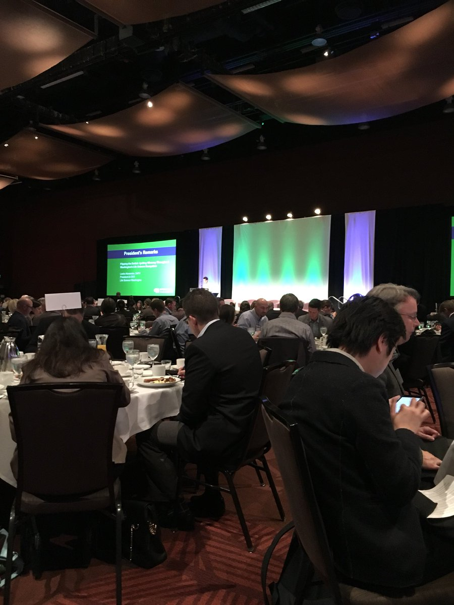 Kicking off the Governor's Life Sciences Summit with remarks from President Leslie Alexandre! @LifeScienceWA #inspired #advocacy <br>http://pic.twitter.com/WYLzwhoBuq