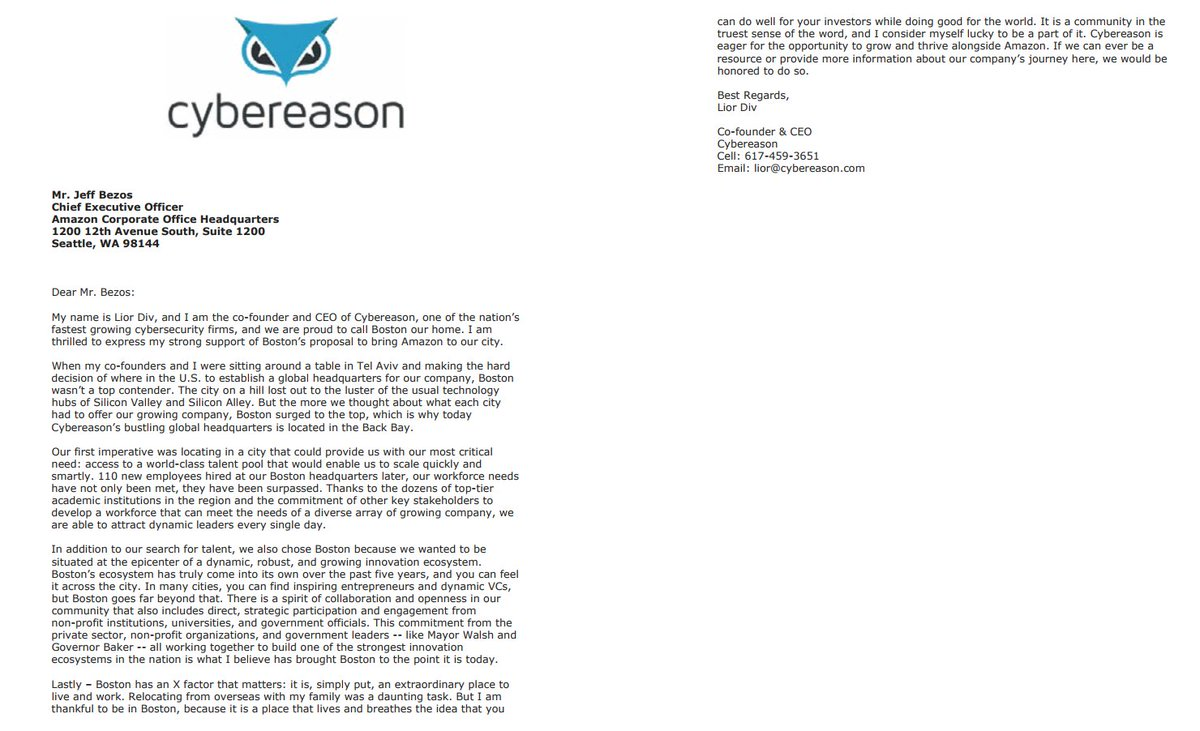 Mike Volpe On Twitter 6 Happy To Have Cybereason Ceo Liordiv