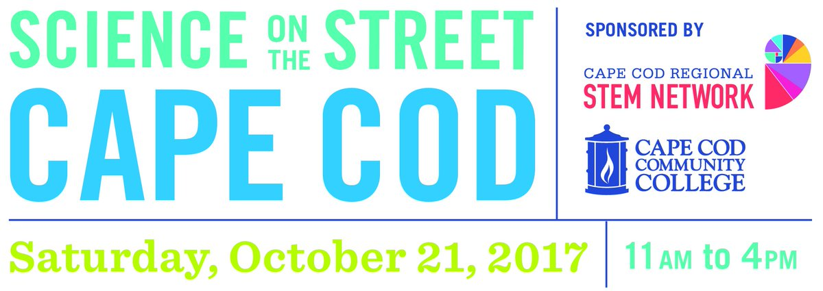 Science on the Street is TOMORROW! Come to @CapeCodComCol and join us for the free #event. Immerse yourself in #stem activities &amp; have fun!<br>http://pic.twitter.com/qBvMPmXfcA