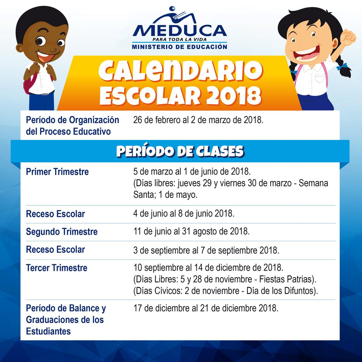 Calendario Escolar 2018 Panama.Radio Mia Panama On Twitter Calendario Escolar 2018