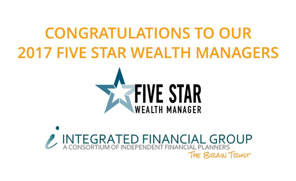 Proud of our 2017 FIVE STAR Wealth Managers. Twenty-four, to be exact. #IFG #TheBrainTrust #joinus  https:// buff.ly/2yCAKIH  &nbsp;  <br>http://pic.twitter.com/6mhWG1CWFa