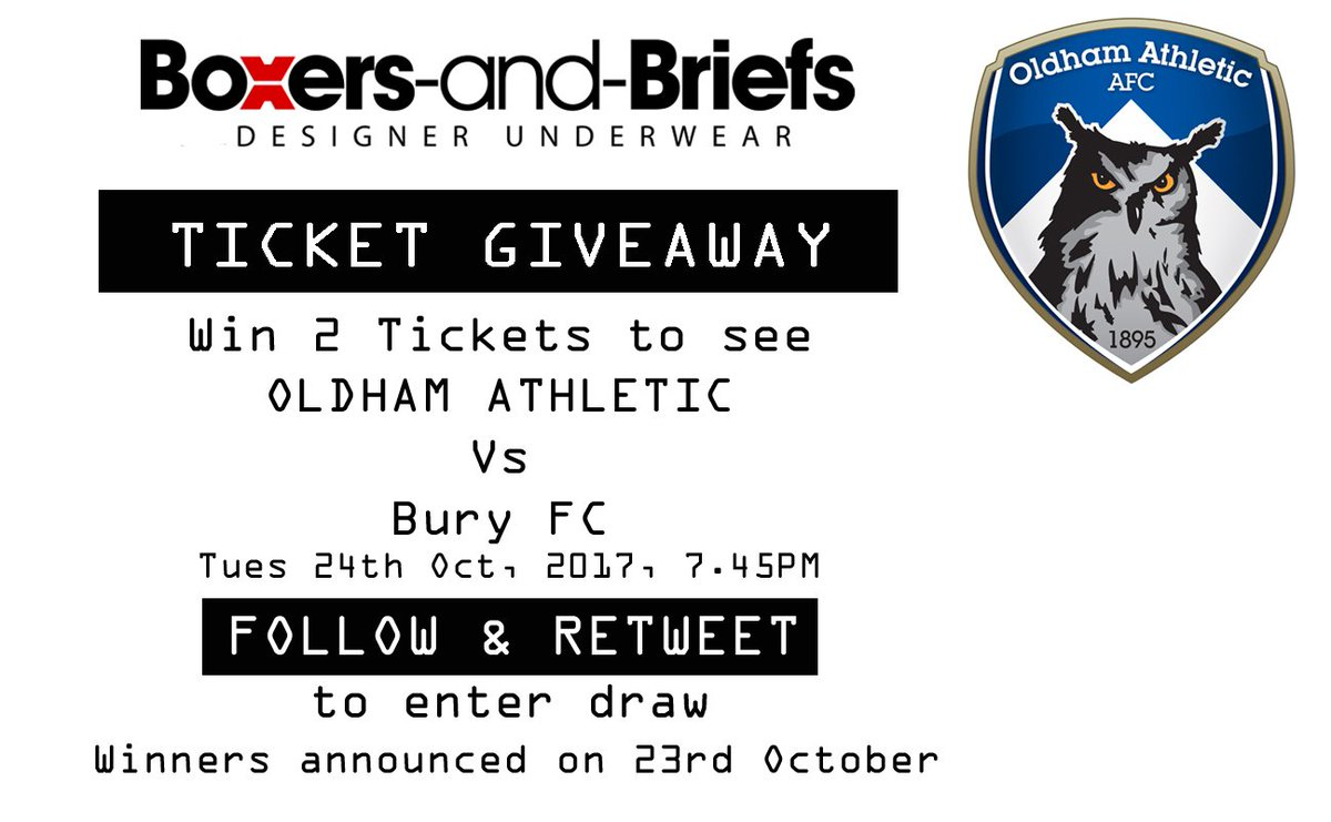#WIN 2 TICKETS FOR @OfficialOAFC Vs Bury FC!!! #FOLLOW &amp; #RETWEET to Enter Draw! #oafc #leagueone #giveaway #football #fridayfeeling #friyay <br>http://pic.twitter.com/vobUd0N0zL