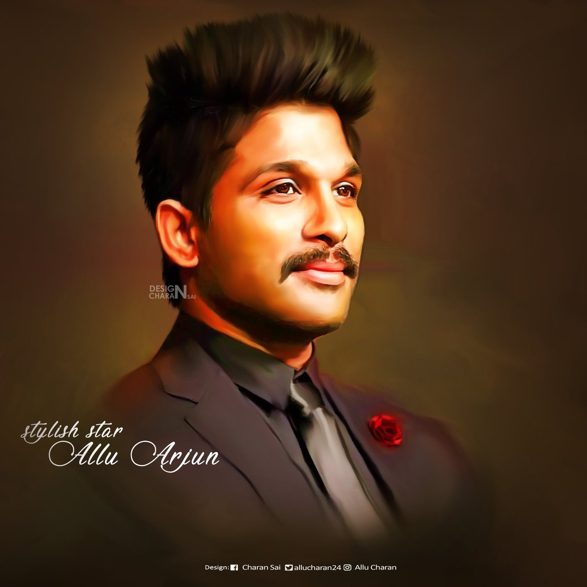 """allu charan on twitter: """"here it is! my first digital painting"""