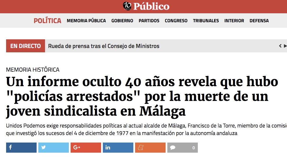 El actual alcalde de Málaga, Francisco d...