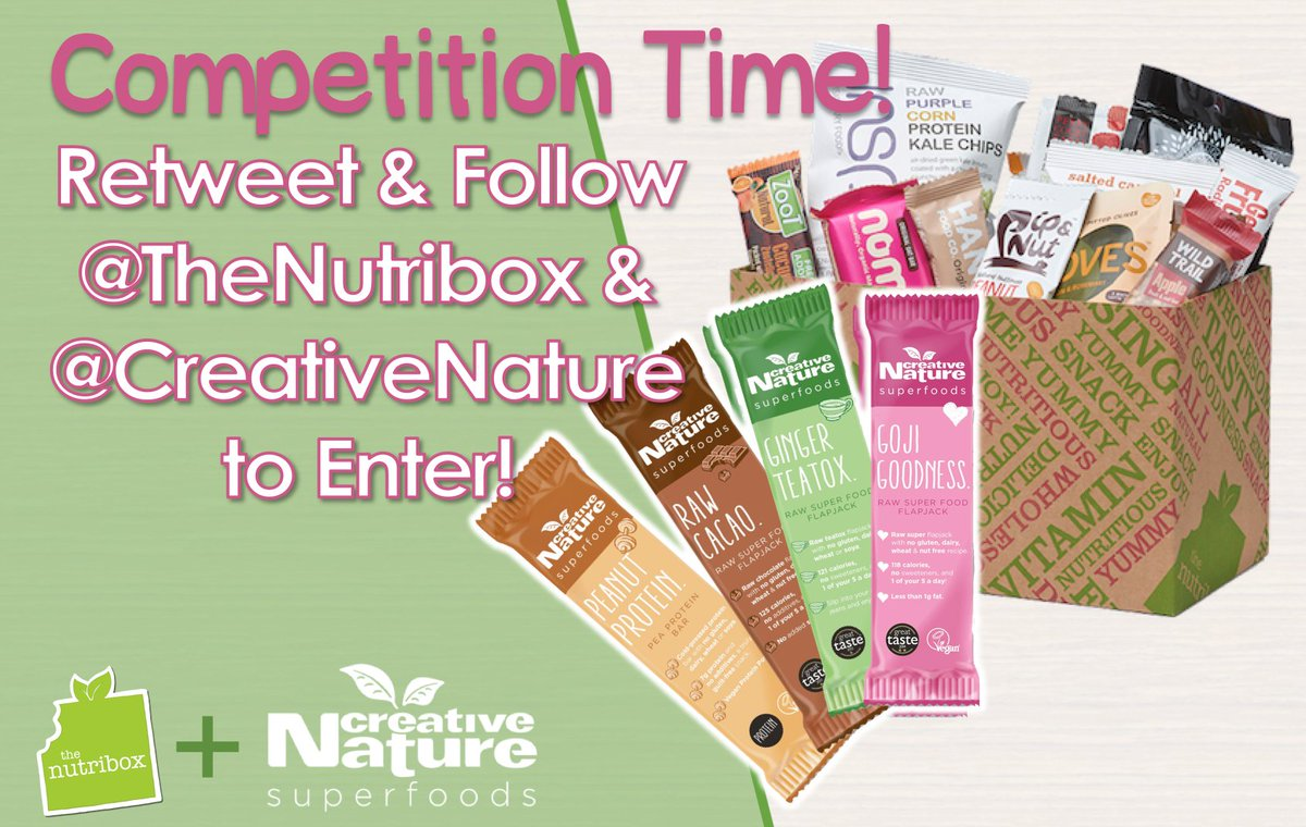 Happy Friday! Don&#39;t forget to enter our #comp to #win a Nutribox + extra @creativenature barsRT &amp; follow #fridayfeeling #freebiefriday<br>http://pic.twitter.com/BSX8KJJrYv