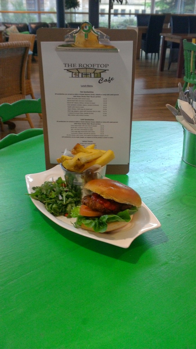 More pitures of the #fresh menu @therooftop_cafe  Classic #Friday #Fish sandwhich or #Homemade Fallafel and salsa burger with chunky chips.<br>http://pic.twitter.com/HWx9XP7vgP