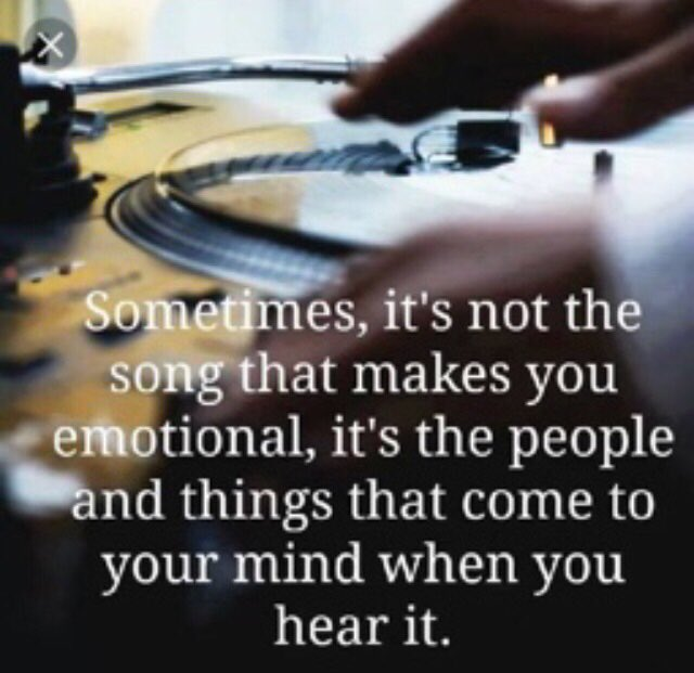 """#FridayFeeling """"Sometimes,it's not the song that makes u emotional, it's the ppl &amp; things that come 2 your mind when you hear it. #Thoughts <br>http://pic.twitter.com/4PuToNPSzX"""
