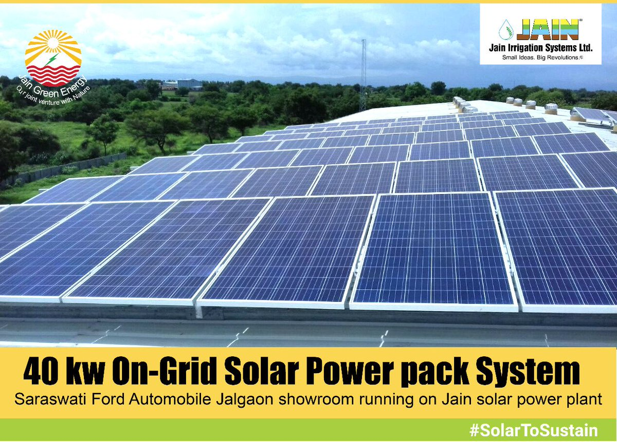 Jain Solar On Twitter Successful Installation Of 40 Kw Grid Ford Panel Roof Solarpower Pack Top System It Is Operaring Under Net Meter Scheme