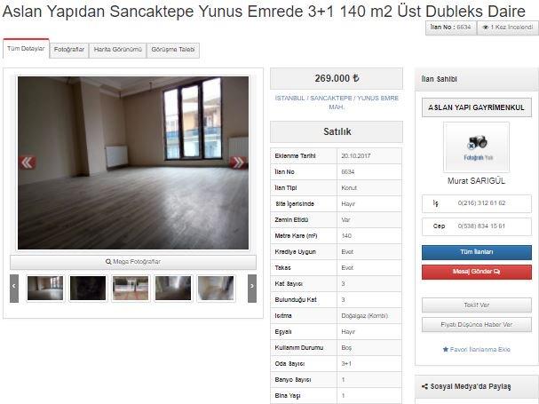 Aslan Yapıdan Sancaktepe Yunus Emrede 3+1 140 m2  Üst Dubleks @aslanya...