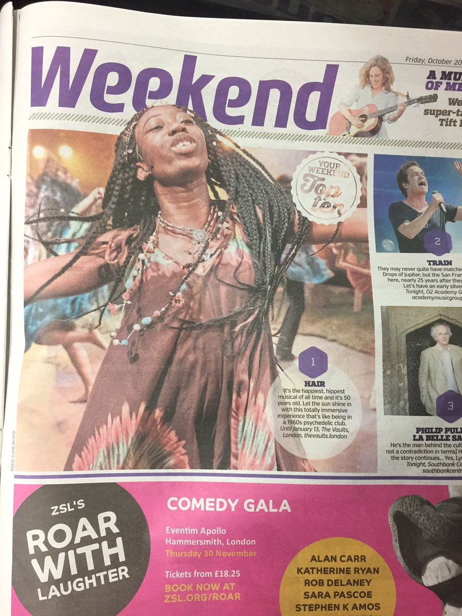 #Hair #Musical is TOP PICK of the #Weekend in #London @MetroUK #JoinTheTribe  <br>http://pic.twitter.com/pliKvF0gix