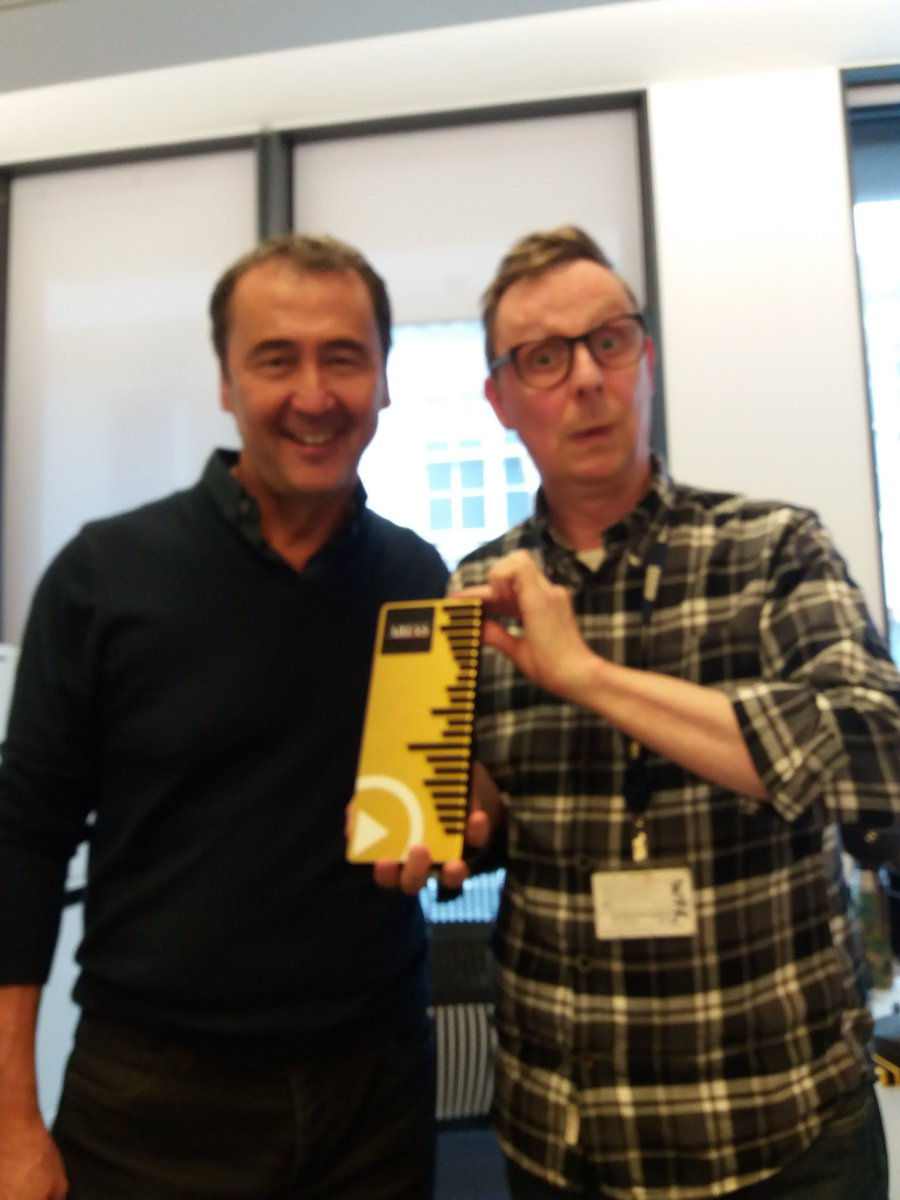 BBC Radio London - Radio Academy 'Arias' (formerly Sonys) Local radio Station of the Year. Here's me (B) with the gaffer. Ta for yr support!