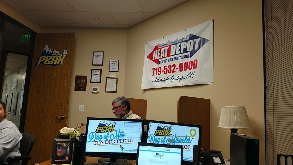The Heat Depot On Twitter Peakfm Hde Radiothon Myheatdepot Call Today 719 272 7325 To Make A Donation Day Of Miracles For Children S
