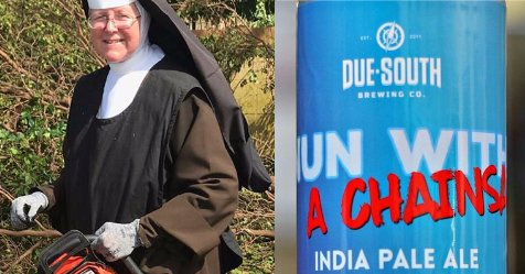 Miami nun with chainsaw immortalized with Due South beer https://t.co/FsYn4tNbMY