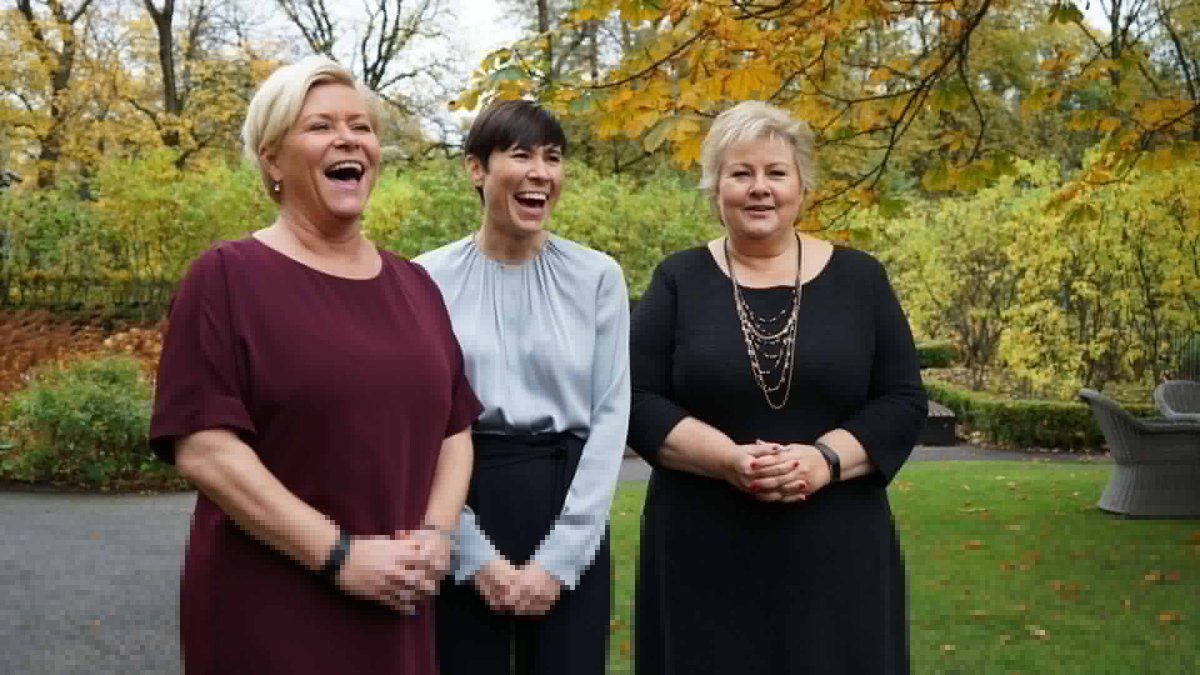Historic moment for #Norway, today all top 3 government positions are held by women: Prime Minister, Finance Minister &amp; Foreign Minister  <br>http://pic.twitter.com/G1wn96jNuo