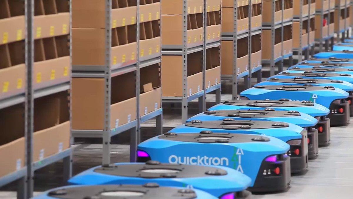 Dans cet entrepôt Alibaba, les robots font 70% du travail https://t.co/uPMAEO1zXR
