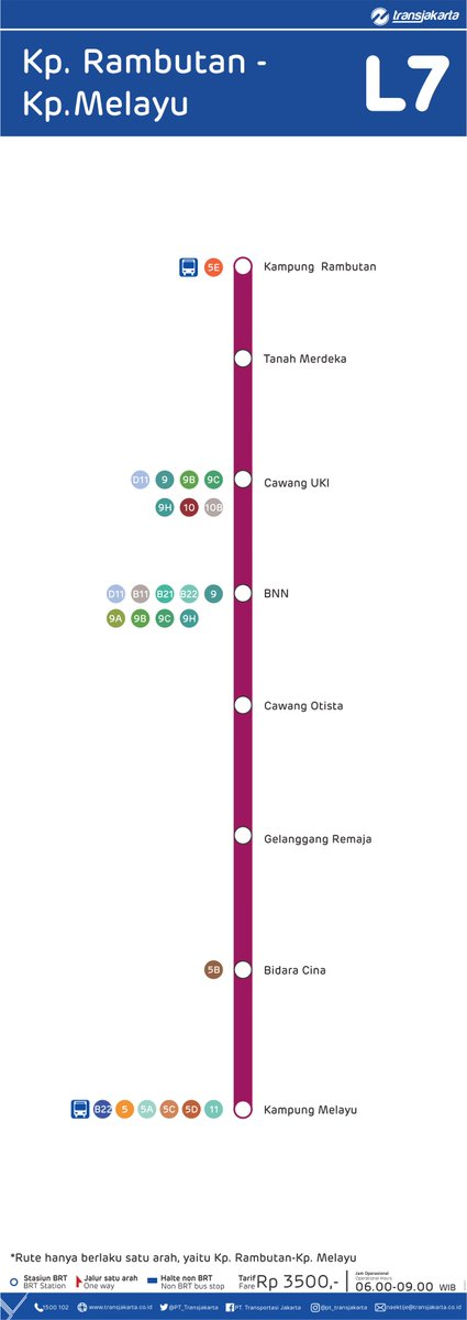 Transportasi Jakarta On Twitter Dan Juga Melayani Rute L6a Monas