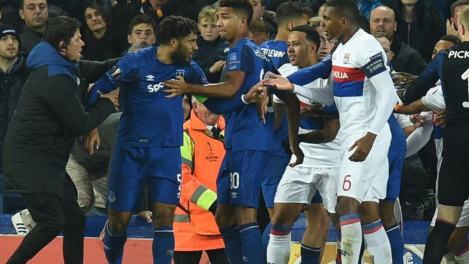 .@Everton ban fan who attacked @OL player while holding child in @Euro...