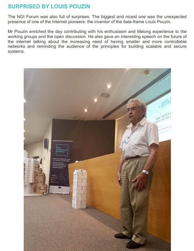 The Data Frame inventor #LouisPouzin surprised audience in the #NGIForum. More in the report  https:// buff.ly/2kYWoSw  &nbsp;   #NGIeu #NGI4EU<br>http://pic.twitter.com/YChrAj3gei