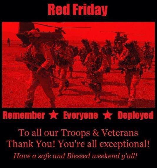 #REDFriday #Troops #Vets ThankYou @SEALofHonor @bandasaul9544 @AIVMI @GarySinise @Noah_Galloway @fritzmt @VAMBOA @TAKNbySTORM @USAHEROSALUTE<br>http://pic.twitter.com/u6dbE92fpu