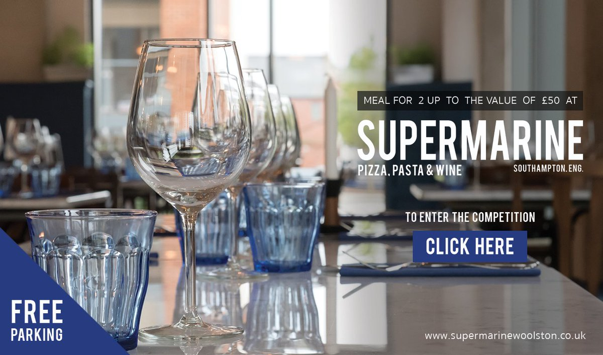 COMPETITION TIME Win a Meal for 2 up to the value of £50 at Supermarine!  1. Like this tweet 2. Follow us 3. Retweet this post.  #Comp <br>http://pic.twitter.com/kMdi6yEPMX