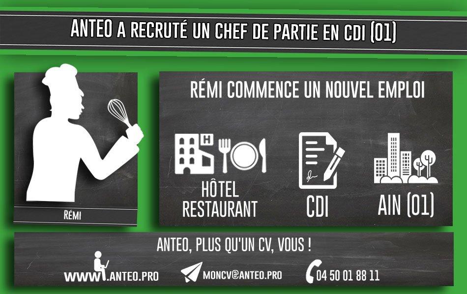 Félicitation Rémi!! #nouveauposte #cv à moncv@anteo.pro #contact 04.50.01.88.11ANTEO vous souhaite un bon week end  ;)  - FestivalFocus