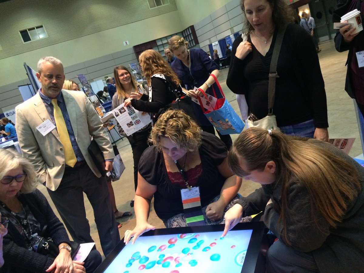 Last day of #MLA17AC! Stop by Booth No. 7 to meet  @TeamSchutmaat &amp; see our PLAY #multitouch #touchtable #edTech #Librarians #libarytech<br>http://pic.twitter.com/x1QtrXtYFE
