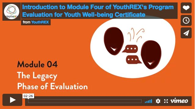 How can you share the legacy of your youth program? Learn this and more in Module 4 of our #evaluation certificate!  https:// buff.ly/2kOQseV  &nbsp;  <br>http://pic.twitter.com/LPM5IcrYYA