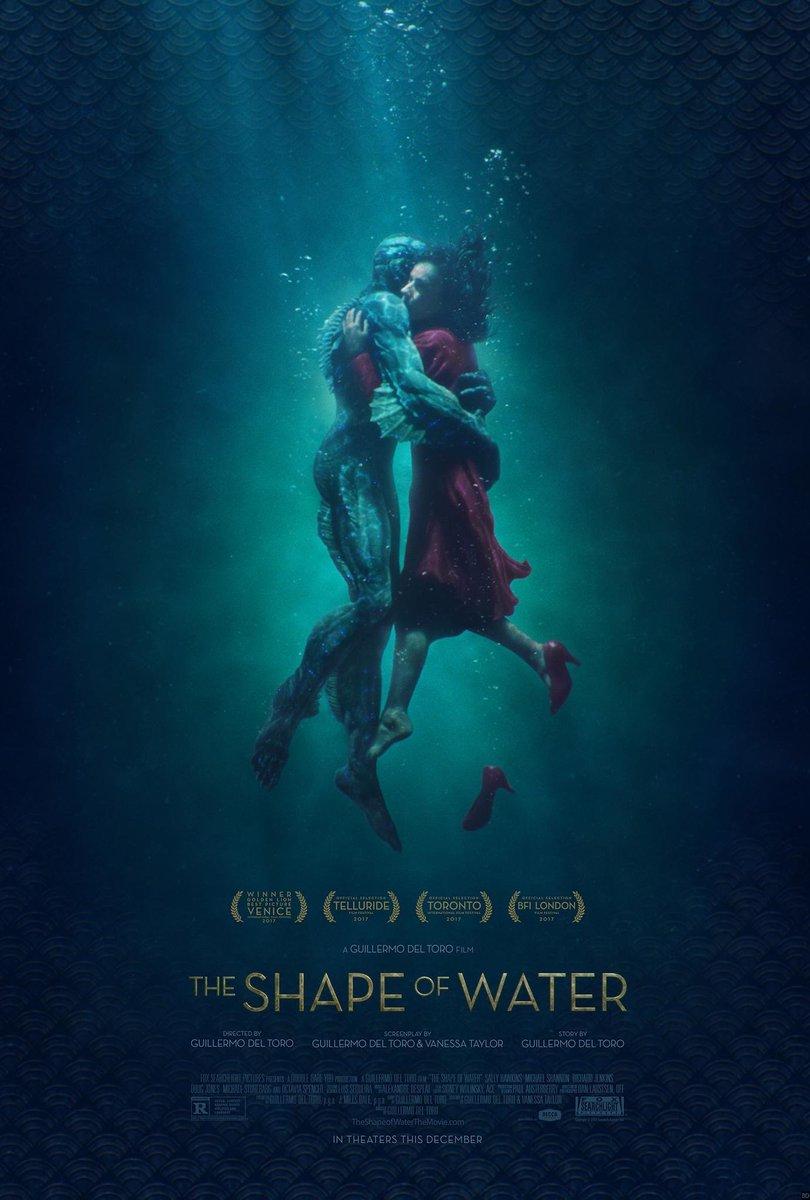 Joli nouveau poster pour le très attendu #TheShapeofWater de #GuillermodelToro qui sortira le 21 février prochain (bon sang c\
